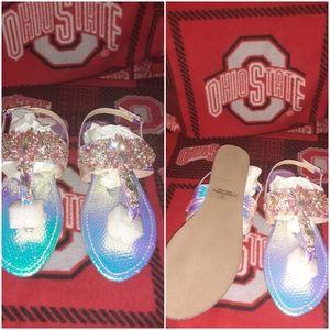 🆕️ Pink Hologram Sandals
